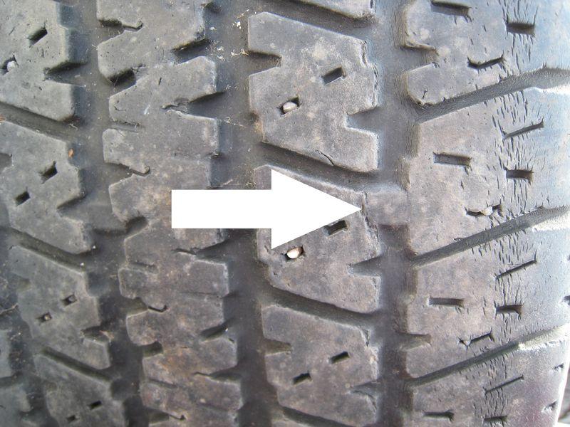 Tire Tread Wear >> Tire wear bar with arrow