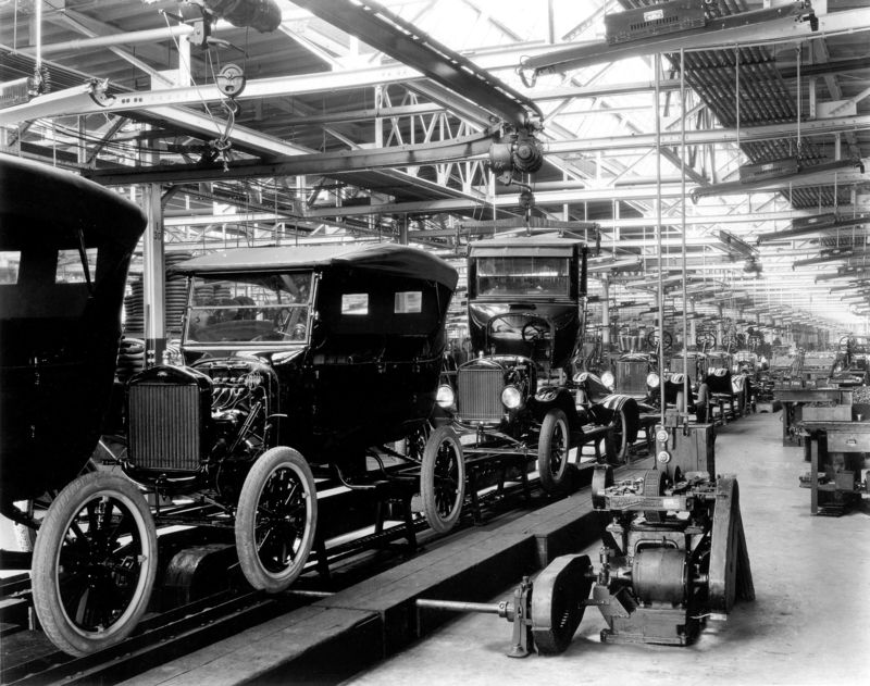 Ford Model T Assembly Line