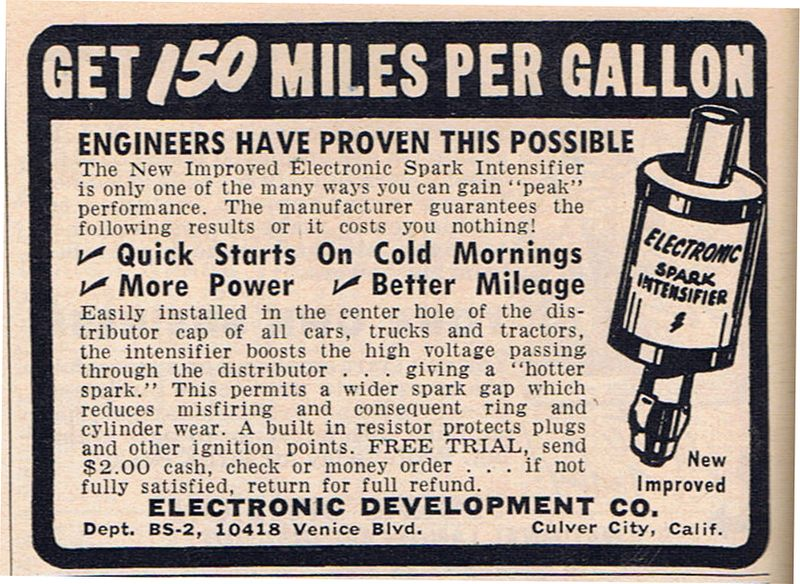 Gas Saving Device 1954