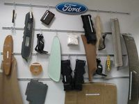 Some of the products made by Ford researchers from bio-materials - photo by Jil McIntosh