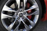 Disc brakes on a 2013 Hyundai Genesis Coupe - photo courtesy Hyundai Canada