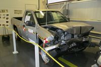 A crash-tested truck at PMG Test and Research Centre - photo by Jil McIntosh (1)