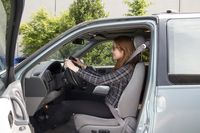 Carol Martins demonstrates the correct head restraint position to help prevent whiplash - photo courtesy Reza Mousivand, University of British Columbia_edited-1