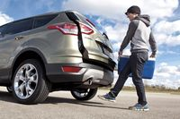 The hands-free liftgate on the Ford Escape