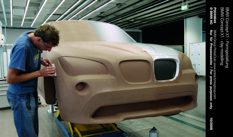 Making a clay model helps designers to finalize proportions and details - photo courtesy BMW