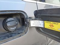 The cap on a diesel warns against using gasoline - photo courtesy Volkswagen Canada (2)