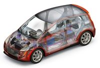 A concept vehicle with high-strength steel components - photo courtesy the Canadian Steel Producers Association