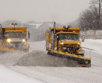 Snow plows clearing the road - photo courtesy Regional Municipality of Durham