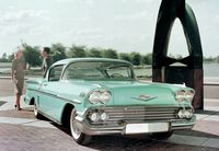 The 1958 Chevrolet costs comparatively less than the 2014 version, but it's less powerful and far more thirsty - photo courtesy General Motors (2)