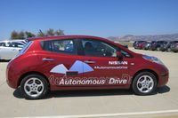 Self-driving cars, like this experimental Nissan Leaf, could cause motion sickness in some drivers - photo by Jil McIntosh (1)