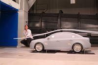 Engineer Nina Tortosa demonstrates aerodynamics on a small-scale model - photo by Jil McIntosh (1)