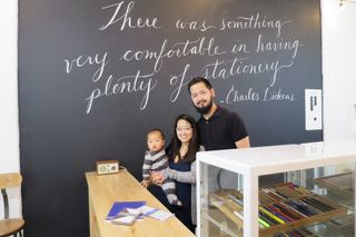 Jon and Liz Chan of Wonder Pens, with their son Caleb