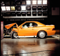 Mercedes-Benz 300 SL crash test 1989