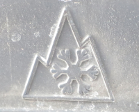 Mountain Snowflake Logo Three Peak