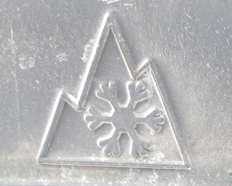 Mountain Snowflake Logo Three Peak