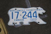 The Northwest Territories' famous polar bear plate