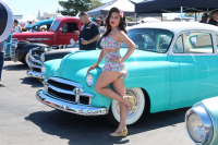 The show is popular with the rockabilly models  who pose with the cars