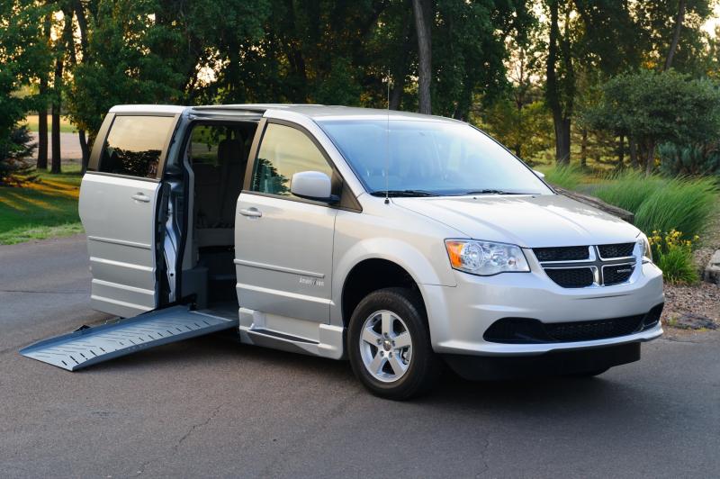 Dodge Grand Caravan with side ramp