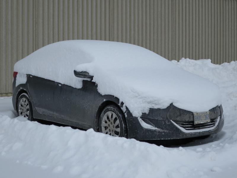 Car In Snow - Jil McIntosh