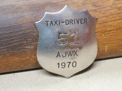 Ajax Driver's Badge 1970