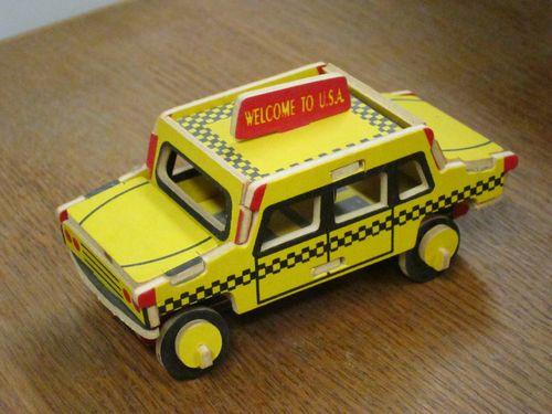 Balsa Wood Taxi