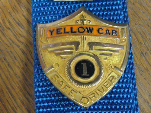 Cap Badge Yellow Cab Safe Driver